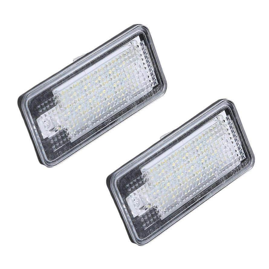 Osman 1 Pasang Mobil LED Plat Nomor Lampu SMD3528 dengan Decoding untuk Audi A4 A3 A6