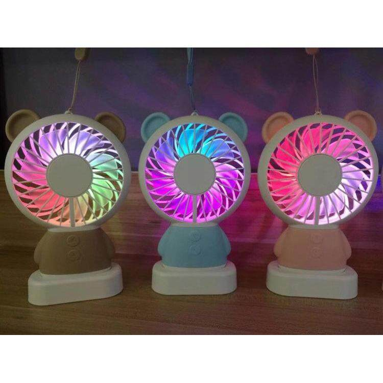 2018 Elegant Style LED Rechargeable Bear Design Mini Handheld Fan