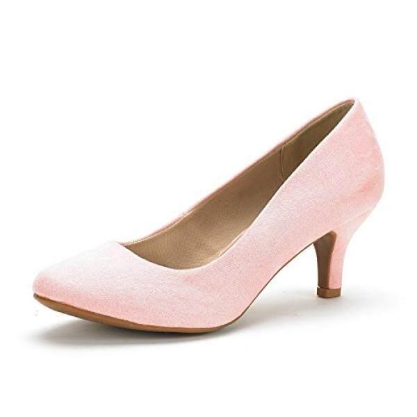 Mimpi Pasang Wanita Luvly Beludru Merah Muda Pengantin Pernikahan Tumit Rendah Pompa Sepatu-US