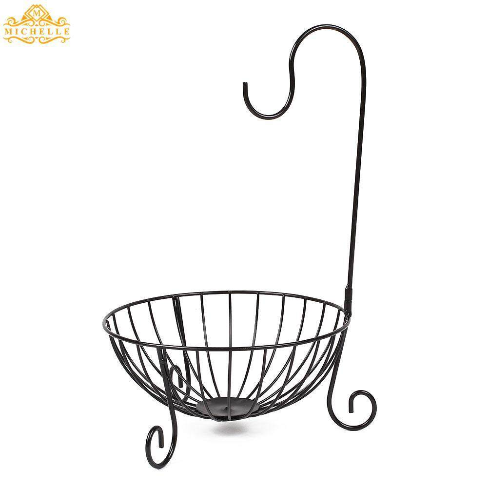 Kitchen Tableware Metal Fruit Basket Detachable Banana Hanger Holder Storage*