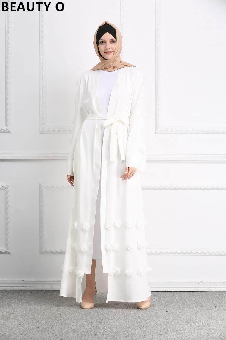 Fitur Kemenangan Baru Wanita Muslim Hitam Panas Pengeboran Printing Abaya Arab Gold New Summer Flowers Jubah Long Dresses Jumpsuits
