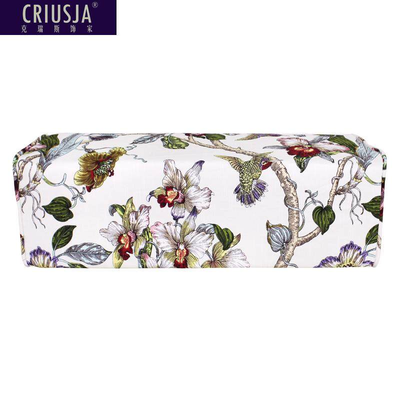 Criusja Arhat Bed Rectangular Pillow Solid Wood Sofa throw pillow by Backpack Vine Plant Flowers Cotton