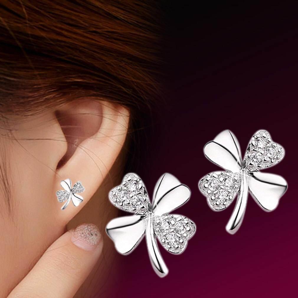 1 Pair Stylish Women Female Copper Zircon Earrings Ear Studs Decoration Jewelry Gift - intl