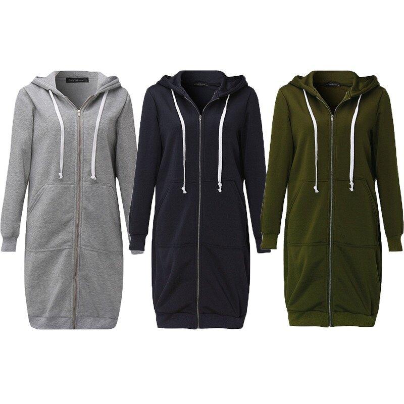 5a83c4a00 New Arrival ZANZEA Winter Coats Jacket Women Long Hooded Sweatshirts ...
