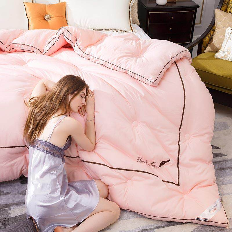 Vrfamliy High-Quality Fabric Comforter (three-Dimensional Serging,embroidered) By Vrfamily.