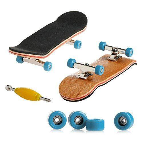 Cenblue Funny Maple Wood Finger Kids Skateboards Nickel Alloy Stents Bearing Wheel Fingerboard (multicolor) By Fengguofuzhuang.