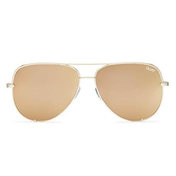 Quay Australia Tinggi Kunci MINI Wanita Kacamata Surya Penerbang Sunny-Gold-Intl