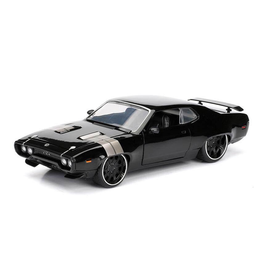 Jada Fast & Furious 8 1:24 DIECAST Dom's Plymouth GTX Car Black Model