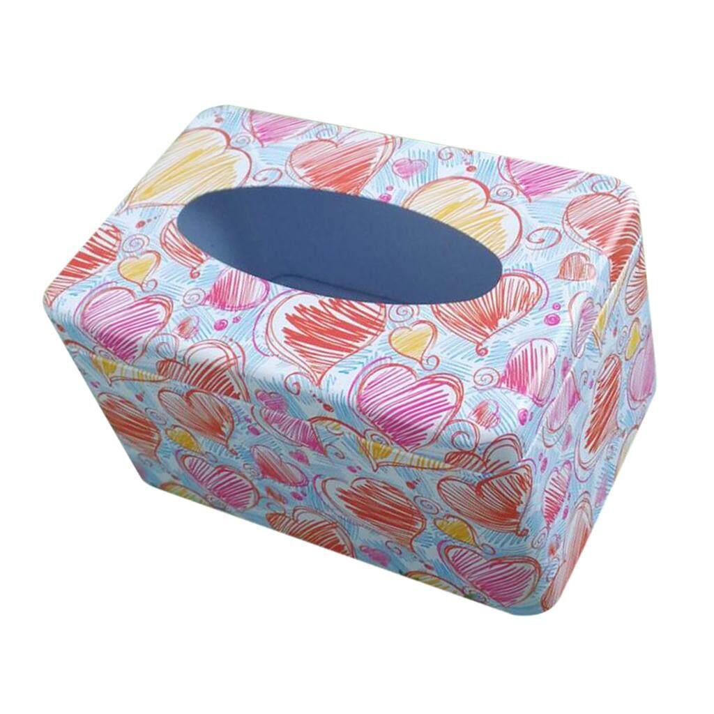 Dolity Tinplate Napkin Paper Holder Tissue Box Cover Dinning Decor Tableware #3