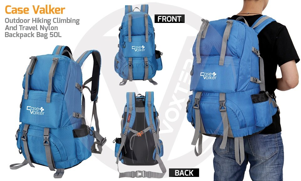 Specifications of Case Valker 50L Outdoor Hiking Climbing and Travel Nylon  Backpack Bag (Army Blue) 890847affcb17