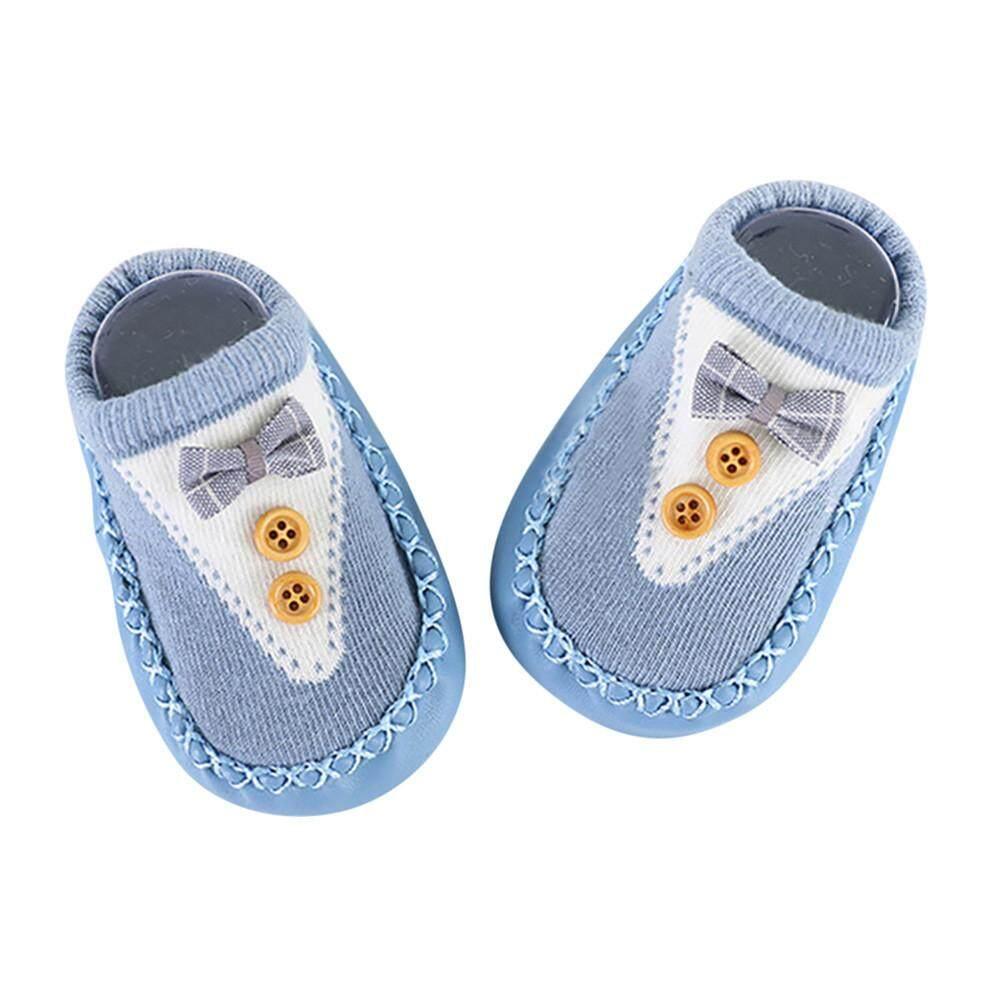 การ์ตูนเด็กทารกแรกเกิดเพศหญิงชาย Anti - Slip ถุงเท้ารองเท้าแตะรองเท้าถุงน่อง By Beautikop.