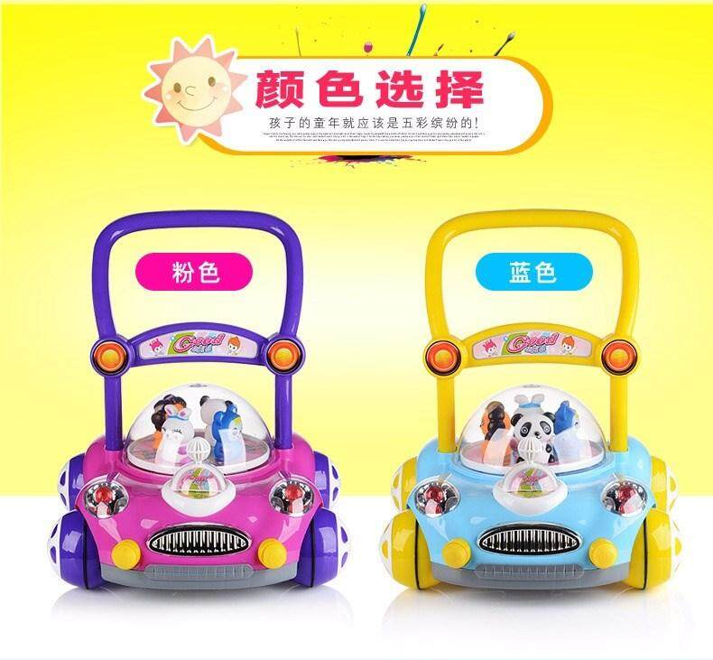 (Pink Colour)Car Design Baby and Toddler Walker Learner with Music and Lighting Toy