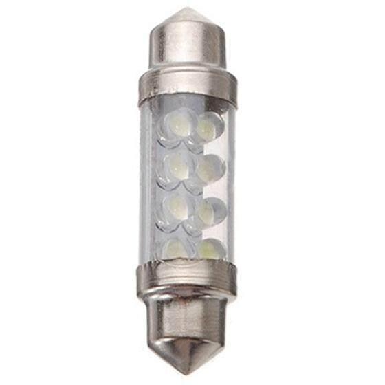 20 Pcs 39 Mm 8LED Bulb Mobil Interior Lampu Hiasan DC 12 V Putih-Intl