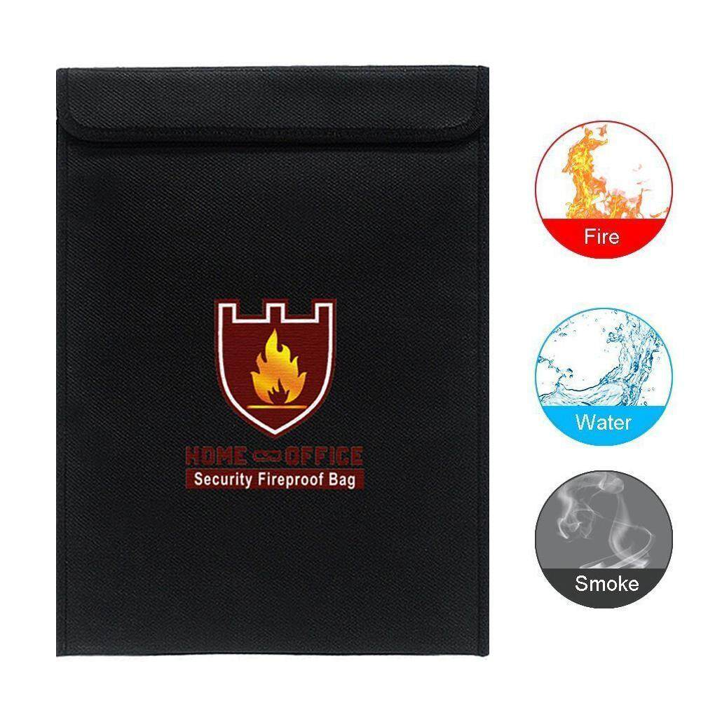 Teekeer Fireproof Document Bag, Fire Water Resistant Security Bag For Home / Office / Card / Passport / Jewelry / Cash / Battery / Ipad (38*28cm)