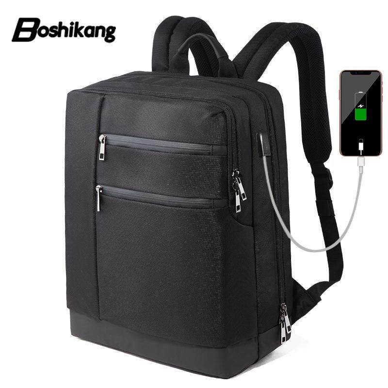 Boshikang Functional Laptop Backpack Anti-theft Man Business Dayback Male  Oxford Business Travel Bag 14 69361e5de2