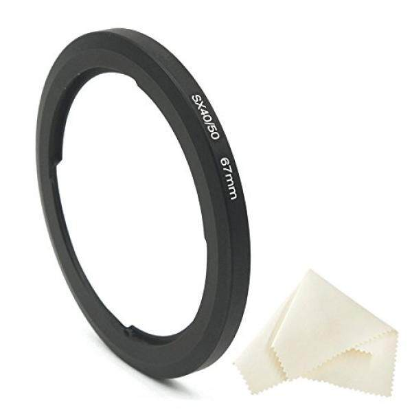 CamRebel 67mm Metal Filter Adapter for Canon PowerShot SX530 HS SX60 HS SX50 HS SX40 IS SX30 IS SX20 IS SX10 IS SX1 IS SX520 HS replacement for Canon FA-DC67A