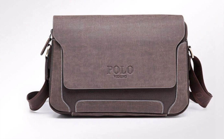 Luxury Design Casual Men S Leather Shoulder Bag Men Travel Bags Polo Famous  Brand Male Messenger 46027734d8c24
