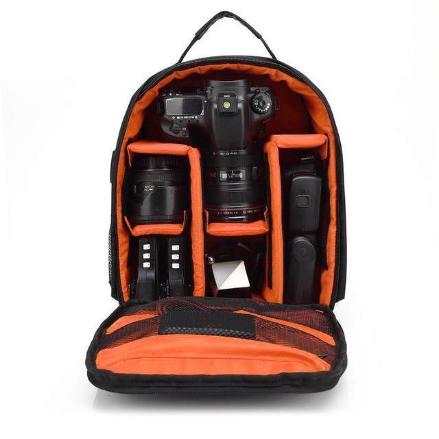 RD Tahan Air Digital DSLR Kamera Video Tas Ransel Kamera SLR PE Empuk untuk Fotografer