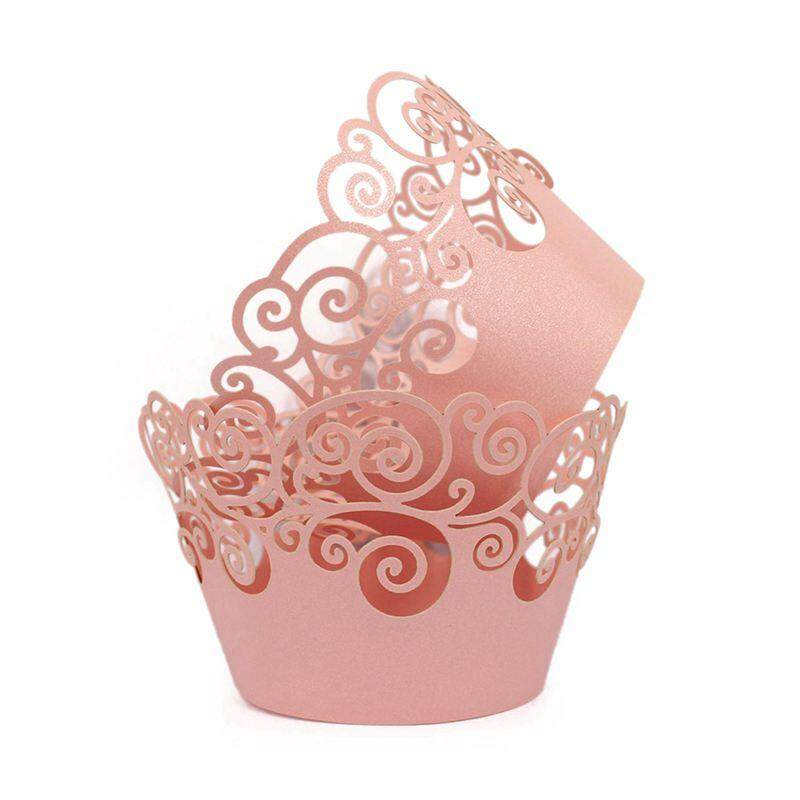 Cupcake Wrappers 60 Filigree Artistic Bake Cake Paper Cups Little Vine Lace Liner Baking Cup Muffin Case Trays For Wedding Party Birthday Decoration Pink By Fastour.