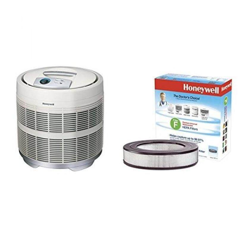Honeywell 50250-S True HEPA Air Purifier, 390 sq. ft. with Universal 14 Air Purifier Replacement HEPA filter, HRF-F1/Filter (F) - intl Singapore