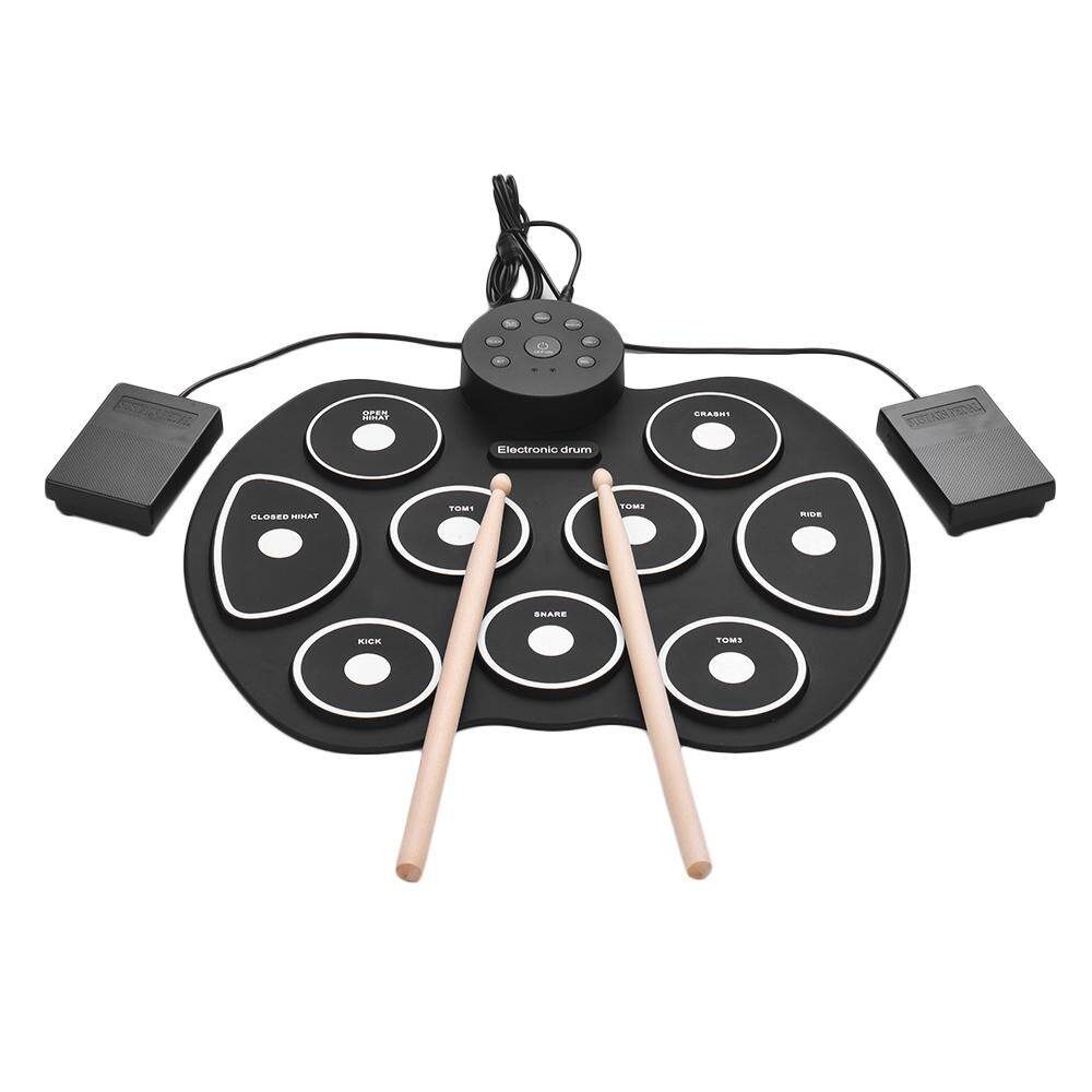 Buy Sell Cheapest Elec Usb Drum Best Quality Product Deals Mainan Wonderland Besar Merry Go Round Music Compact Size Roll Up Silicon Set Digital Electronic Kit 9 Pads