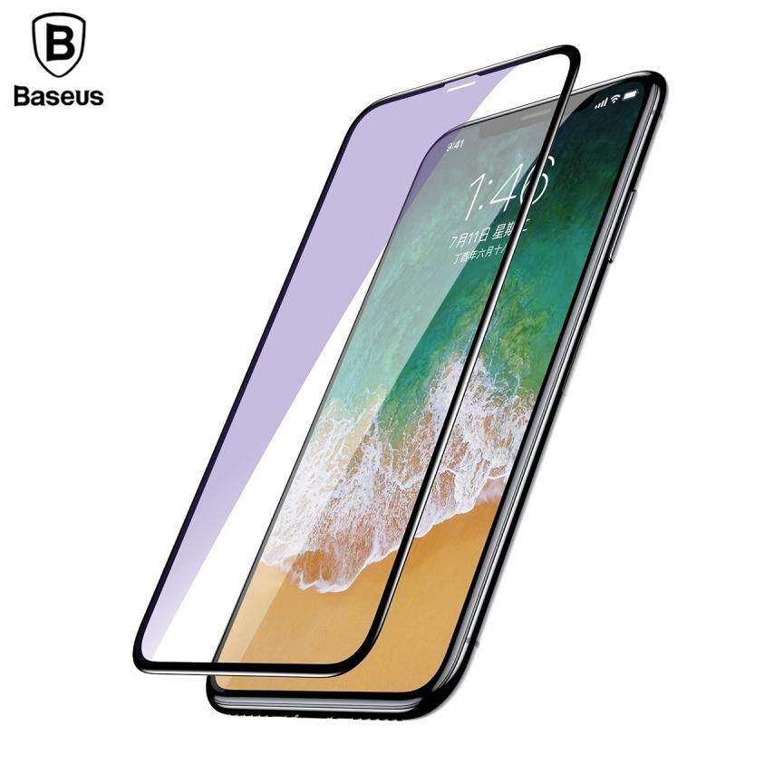 (Anti Blue Light) Baseus For iPhone X XS Max XR 3D Full Cover Silk