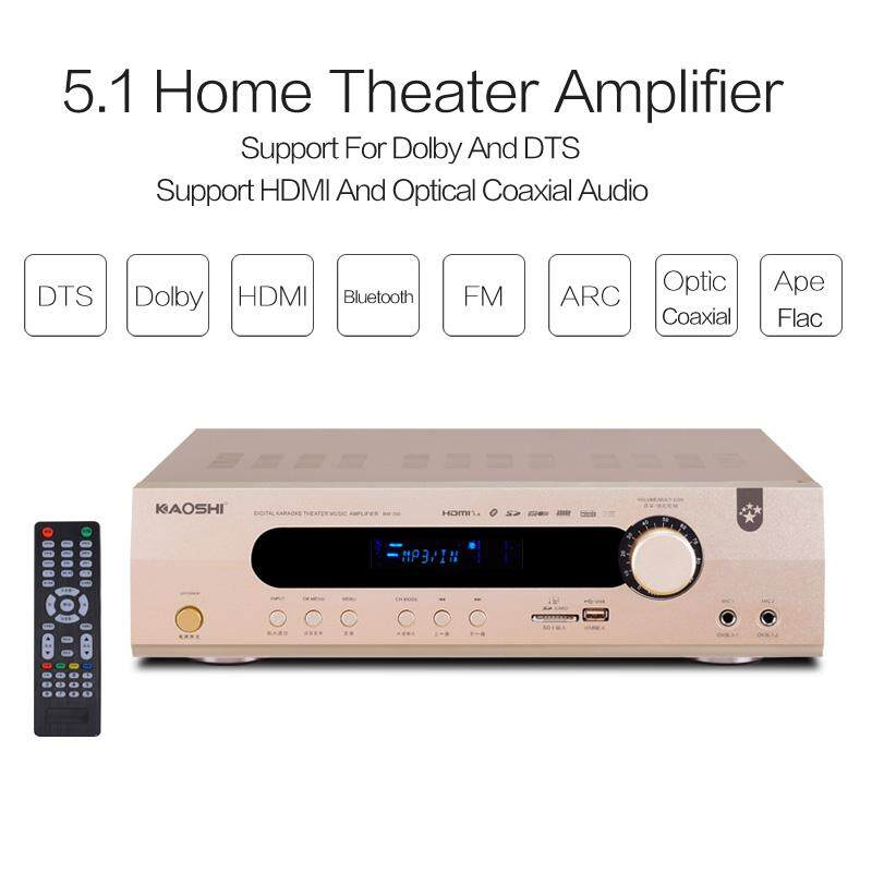 5 1 Home Theater Amplifier HDMI and ARC HD Digital Optic Coaxial Audio  Support Dolby and DTS, Smart TV, TV Box, Bluetooth,USB music playback,  Speaker