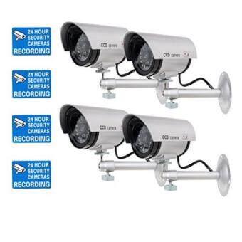 Cheapest today WALI Bullet Dummy ปลอมกล้องวงจรปิดโดมกล้องในร่มกลางแจ้งหนึ่งไฟ LED คำเตือนความปลอดภัยสติกเกอร์แจ้งเตือน Decals (TC-S4), 4 แพ็ค, Silver - INTL ...