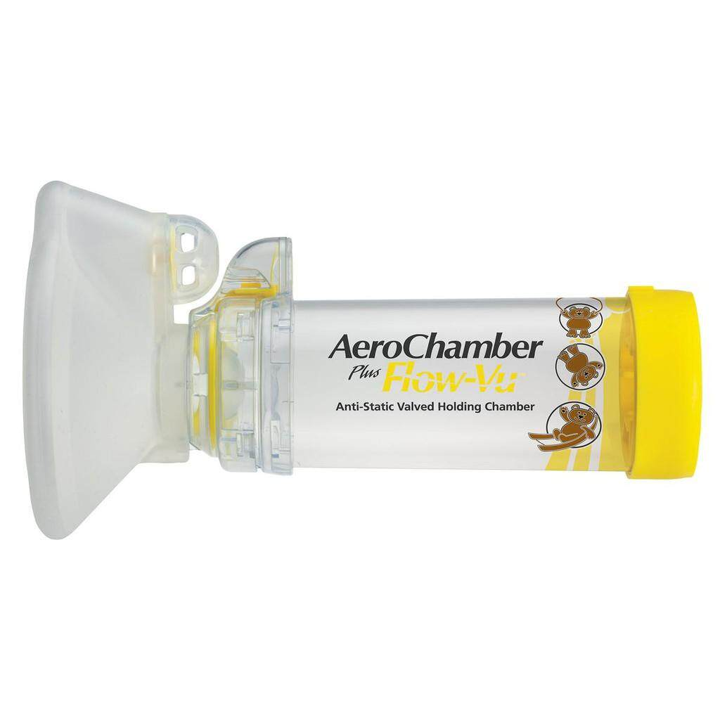 AEROCHAMBER PLUS FLOW-VU (MEDIUM MASK 1-5YEARS) [YELLOW] 1UNIT