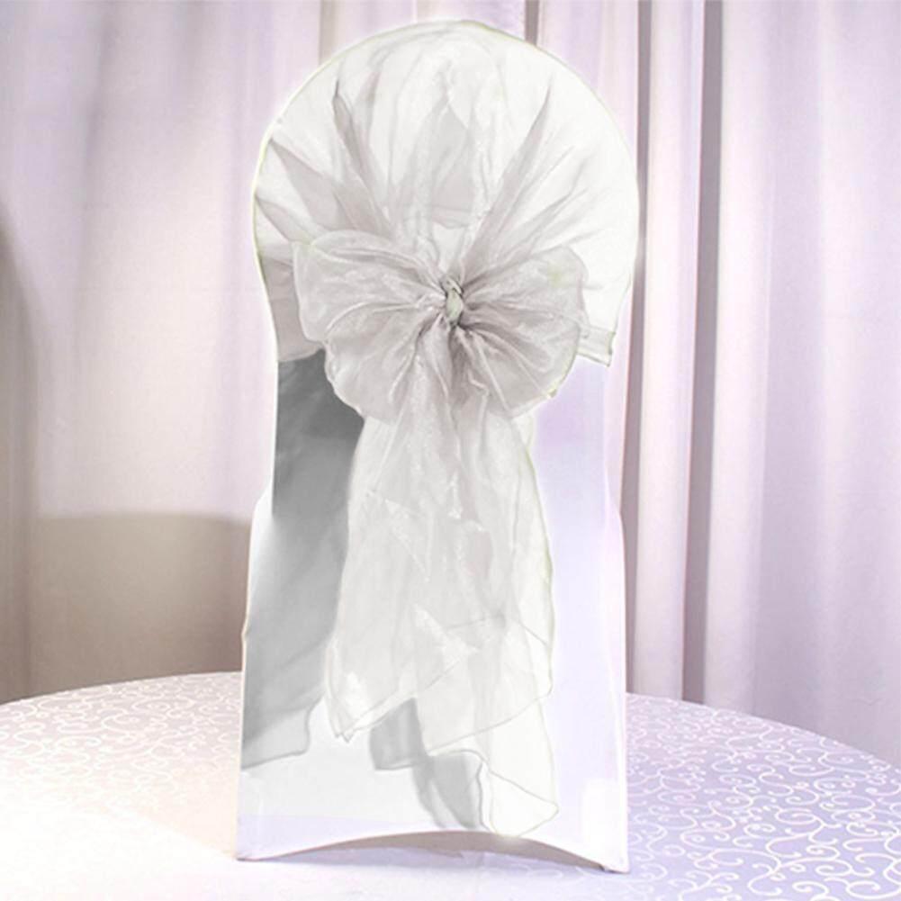 ผ้าคลุมเก้าอี้ยืดได้ Sash โบว์งานแต่งงานผ้าผ้าคลุมเก้าอี้เทศกาลอุปกรณ์ By Goddyliho688.