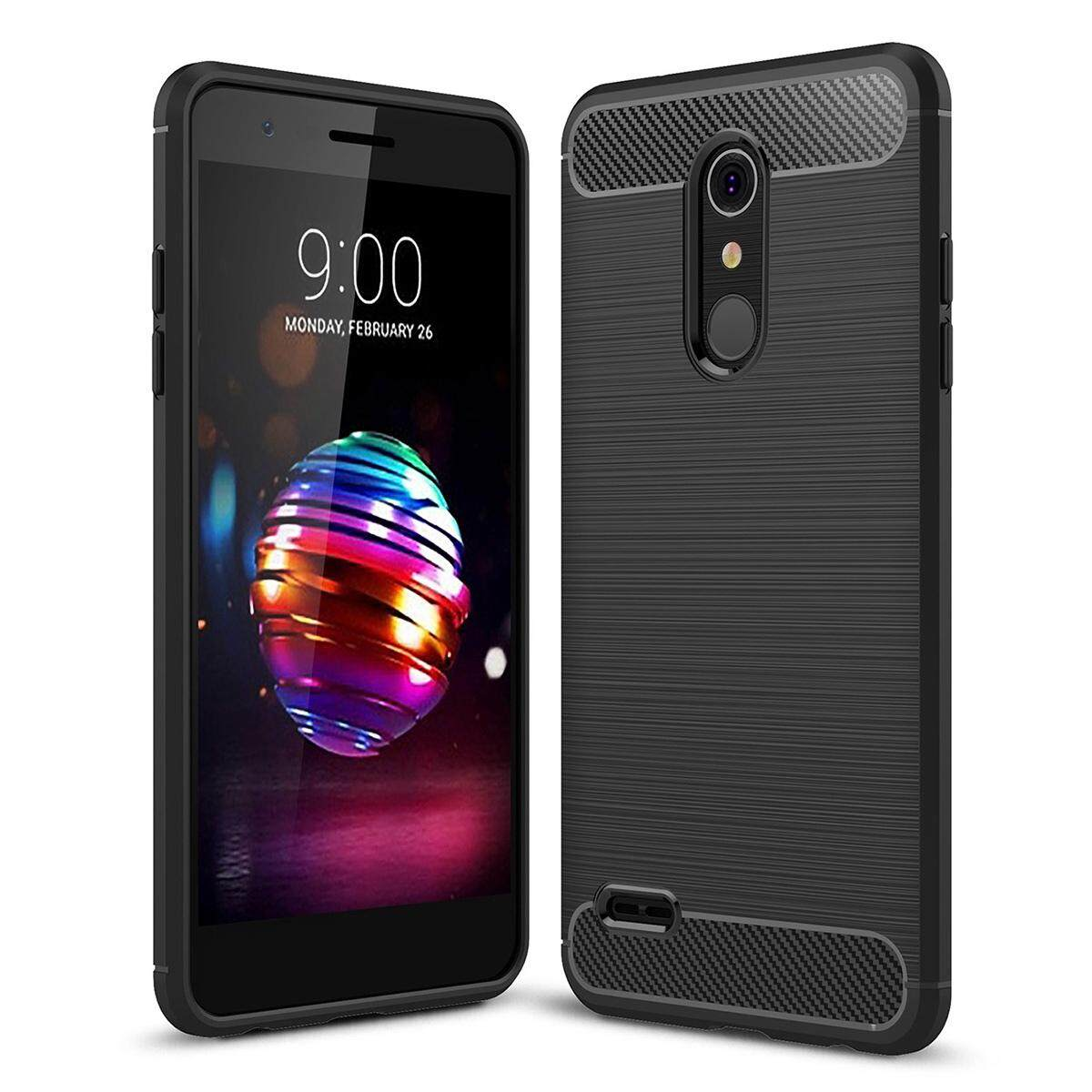 Mooncase for LG K10 2018 Case Carbon Fiber Resilient Drop Protection Anti-Scratch Rugged Armor Case Cover - intl