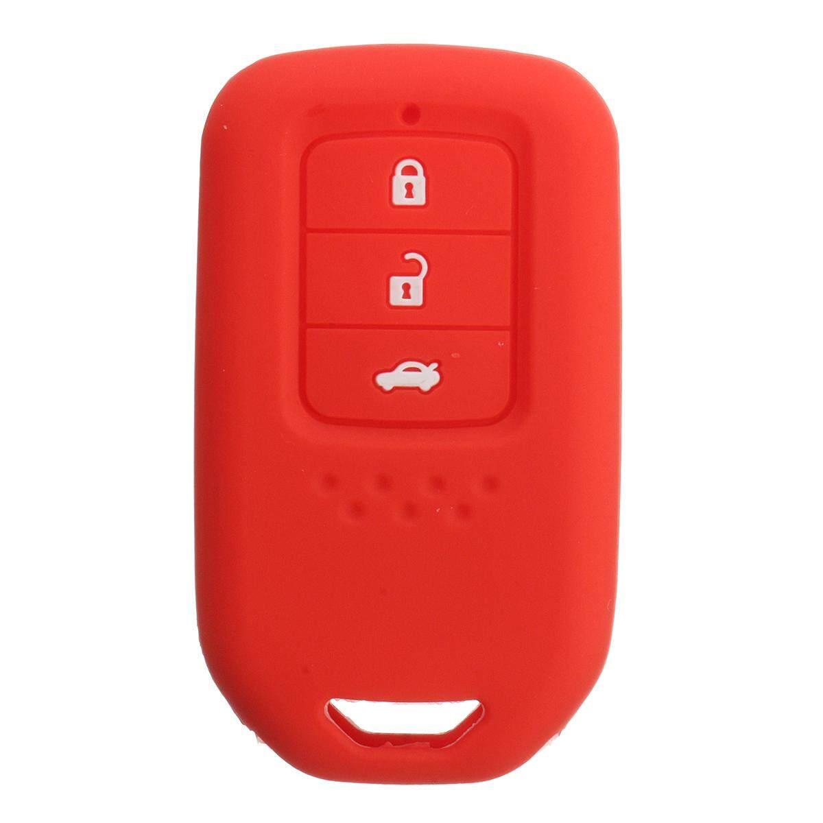 Rp 50000 2 3 Tombol Pintar Silikon Kunci Sarung Fob Kulit Cocok Untuk Honda Giok VEZEL HRV Crider Merah InternasionalIDR50000