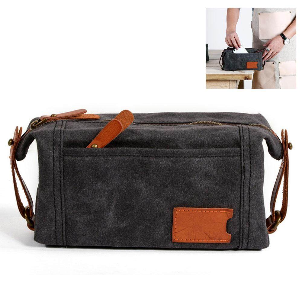 leegoal Men Canvas Clutch Bag Business Small Handbag Phone Purse Casual  Canvas Wrist Bag 97c635248c