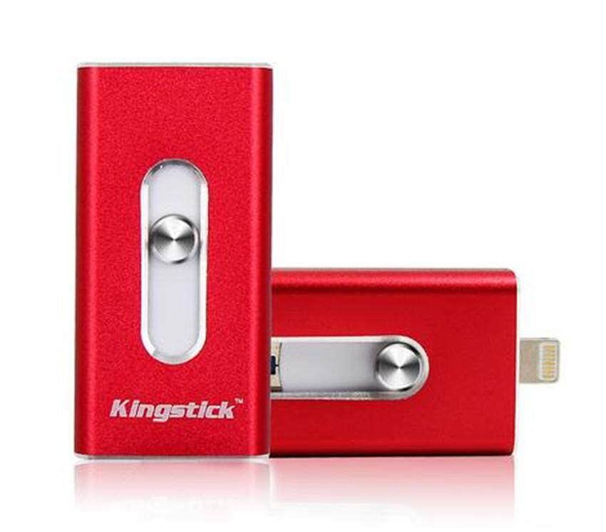 128GB OTG Usb Flash Drive for iPhone/Android I-flash Drive Metal Pen Drive Memory Stick (Red) - intl