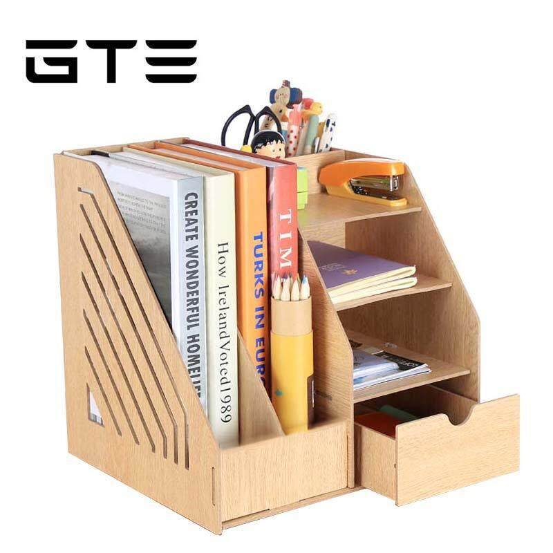 gte all in one wood desktop office supplies simple home office multi purpose