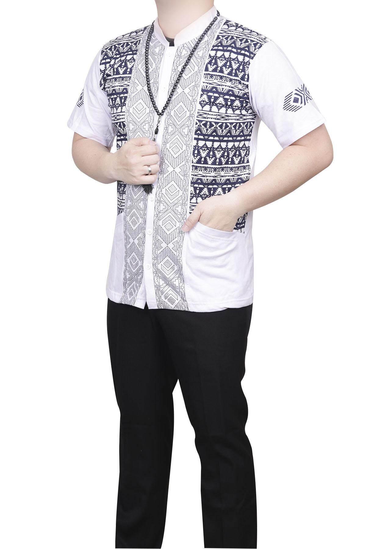 Fitur Jas Koko Couple Jasko Putih Kombinasi Bordir Pedang Baju Anak Ayah Batik Detail Gambar Quincy Musim 2018 Terbaru