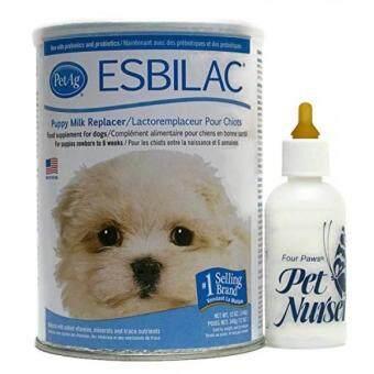 Harga preferensial Esbilac Anjing Susu Bubuk Pengganti 12 Oz dengan Empat Kaki PET Botol Minum Bayi