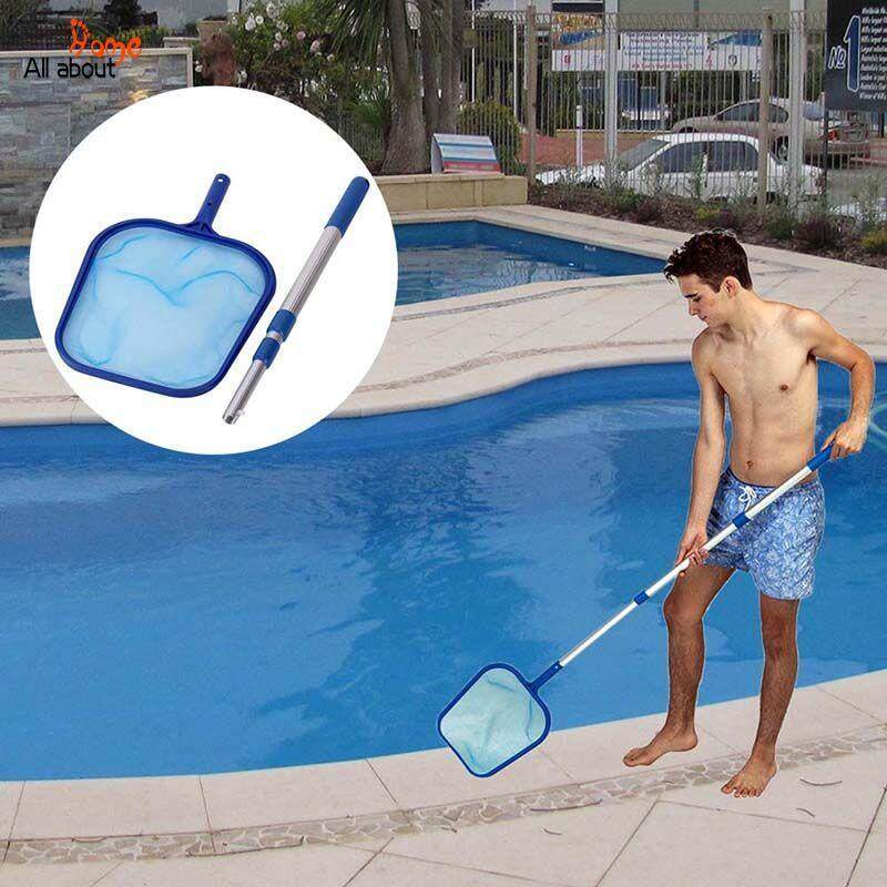 ABH Pool Leaf Cleaning Net Skimmer with Telescopic Pole Detachable for Spa Koi Fish Pond