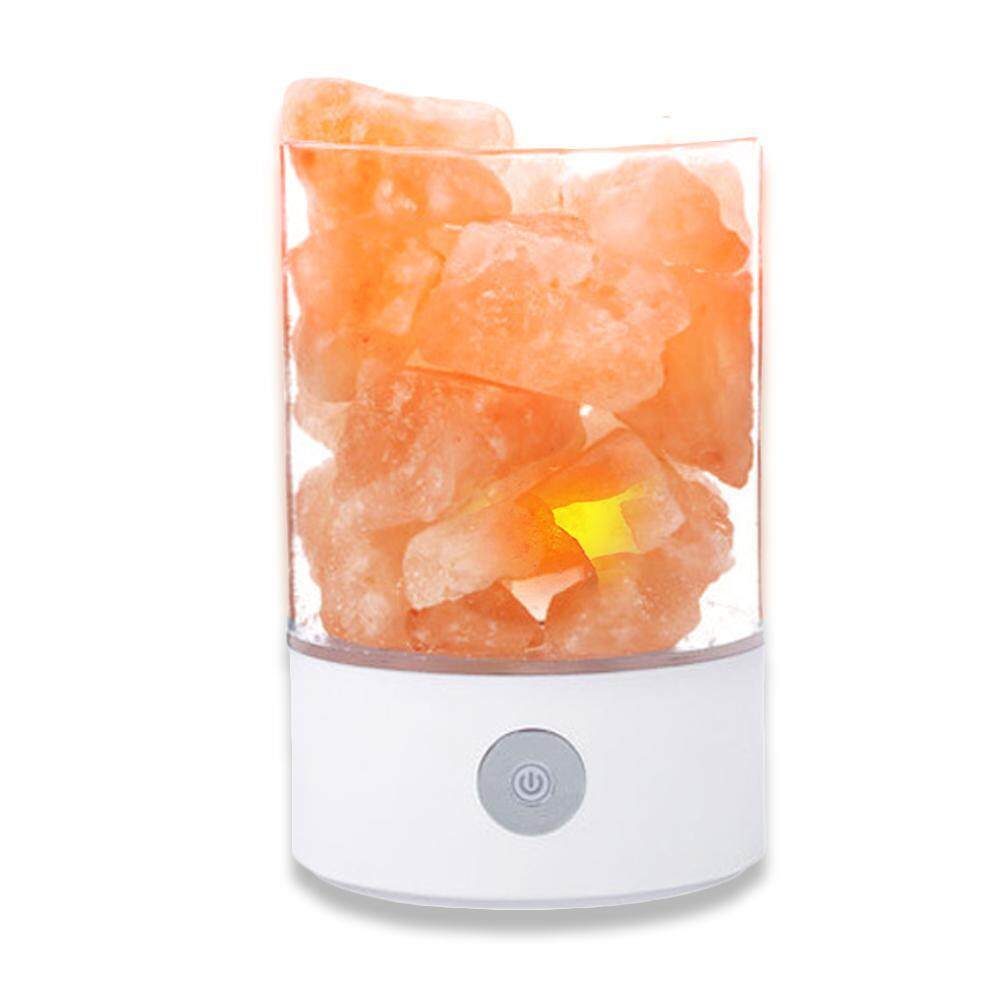 GoodGreat Himalayan Salt Lamp, Natural Crystal Rock Contemporary Design with 7 Colors Salt Light Dimmable Touch Switch for Home,Outdoor and Holiday Gift.