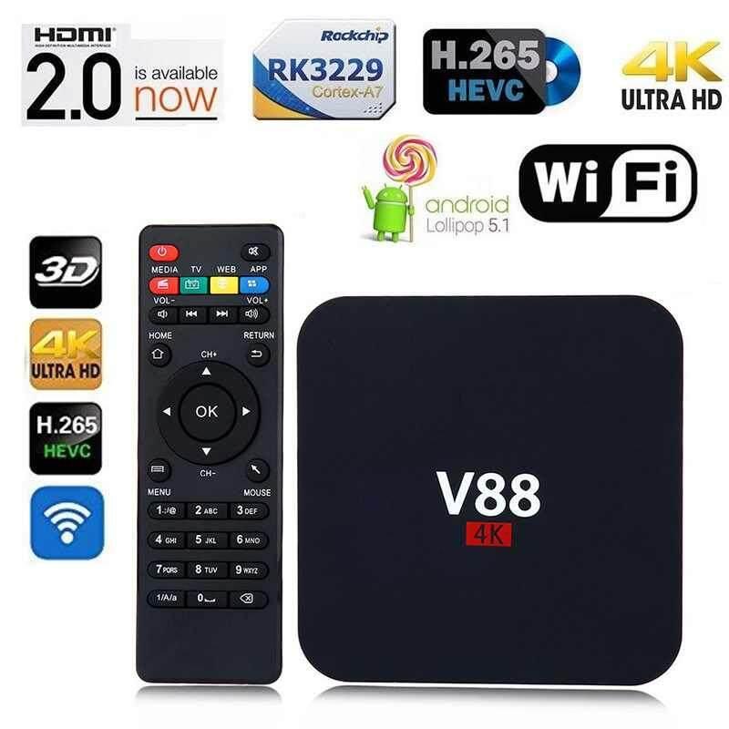 Yifang Durable V88 Internet Set-top Box Android 6.0 Smart TV Box RK3229 4K HD