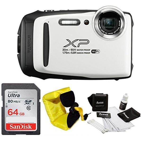 FujiFilm FinePix XP130 Rugged Waterproof WiFi Digital Camera (White) + Focus Floating Strap & Sony 64GB Card Bundle - intl