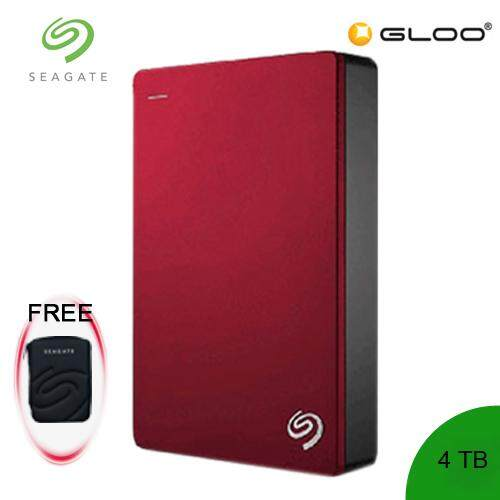 Seagate® Backup Plus 4TB STDR4000303 Portable Drive -Red [FREE Pouch Casing]
