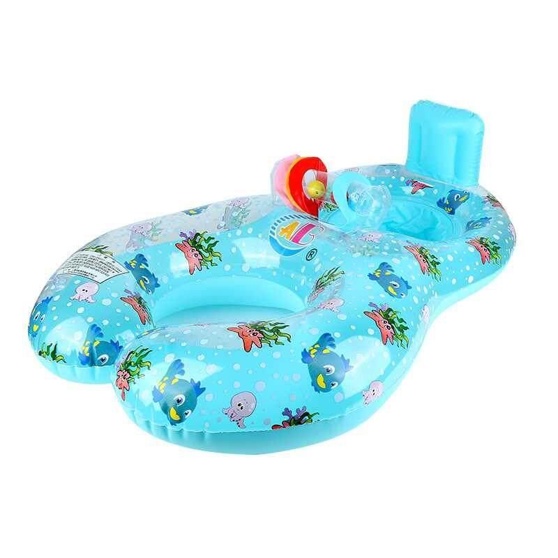 Brisky 100 * 70 (cm) PVC Swimming Float Ring Swimming Ring Circle Ring Two