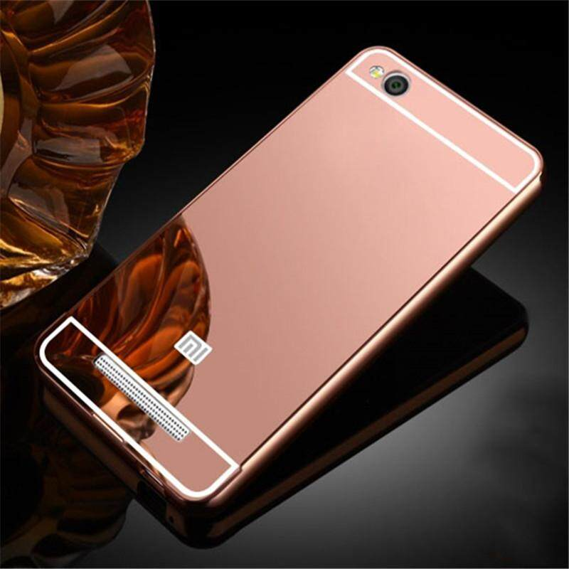Features Luxury Plating Mirror Case Aluminum Metal Bumper Acrylic