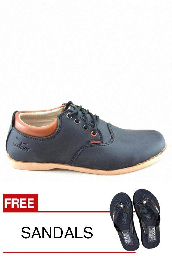 Redknot Revo Black Casual Shoes Free Slipper Best Seller By Redknot.