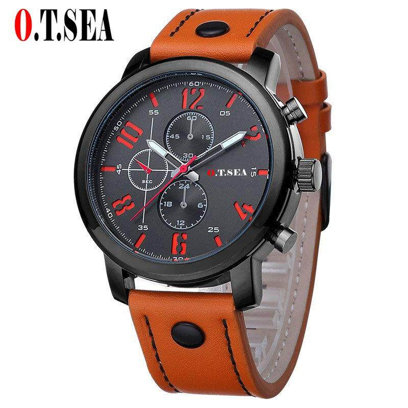 O.T.SEA Fashion Watches Men Casual Military Sports Watch Quartz Analog Wrist Watch Clock