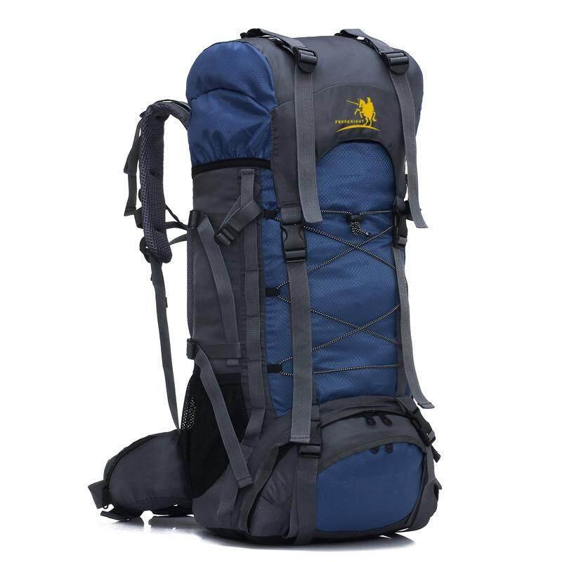 a3407cf4f77c 60L Outdoor Trekking Backpack Waterproof Nylon Travel Bag Camping Bag