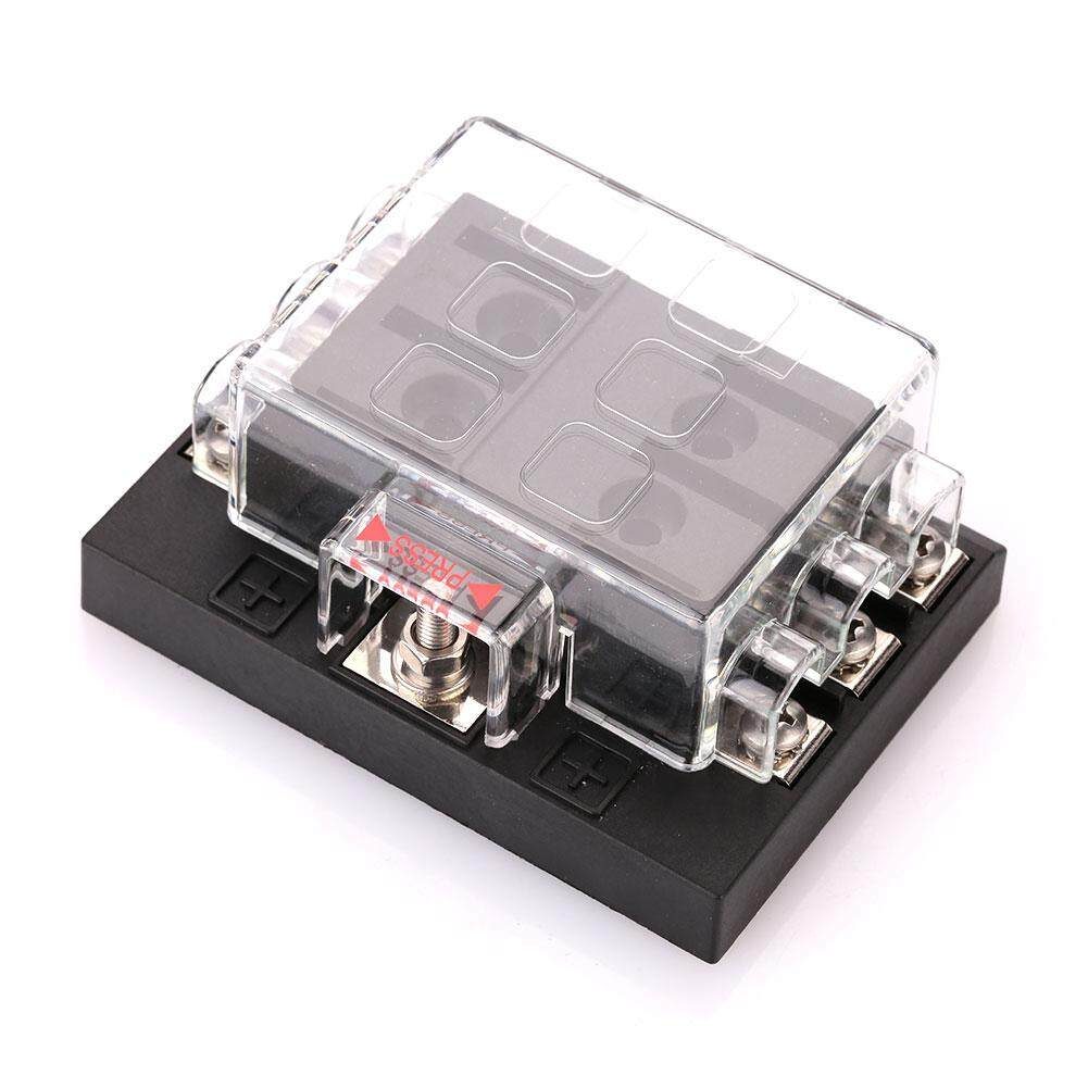Fitur Durable Electric Vehicle Parts Auto Fuse Holder Circuit Box Breaker Car 6 Way Blade Block Case Dc32v 202 06kw