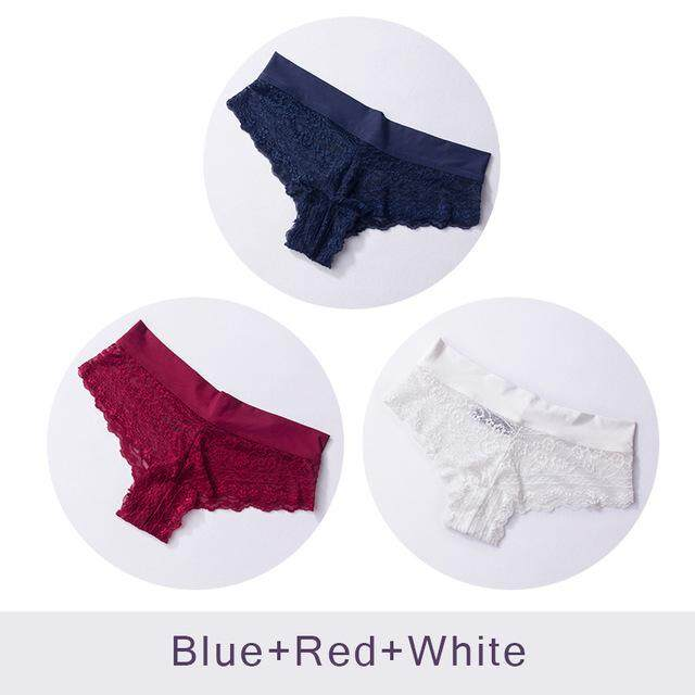 288d5e7254c2 DULASI 3pcs/set Ultra Soft Women's Sexy Lace Panties Seamless Women Briefs  Bikini Cotton Croth