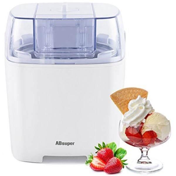 Ice Cream Maker, SIEGES 1.5 Quart Ice Cream Machine Sorbet Gelato Maker Frozen Yogurt Machine for Home with Ice Cream Freezer Bowl - intl